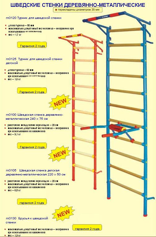 Как сделать шведскую стенку из металла 975